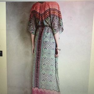 Vanessa Virginia tribal print maxi dress cover-up. for sale